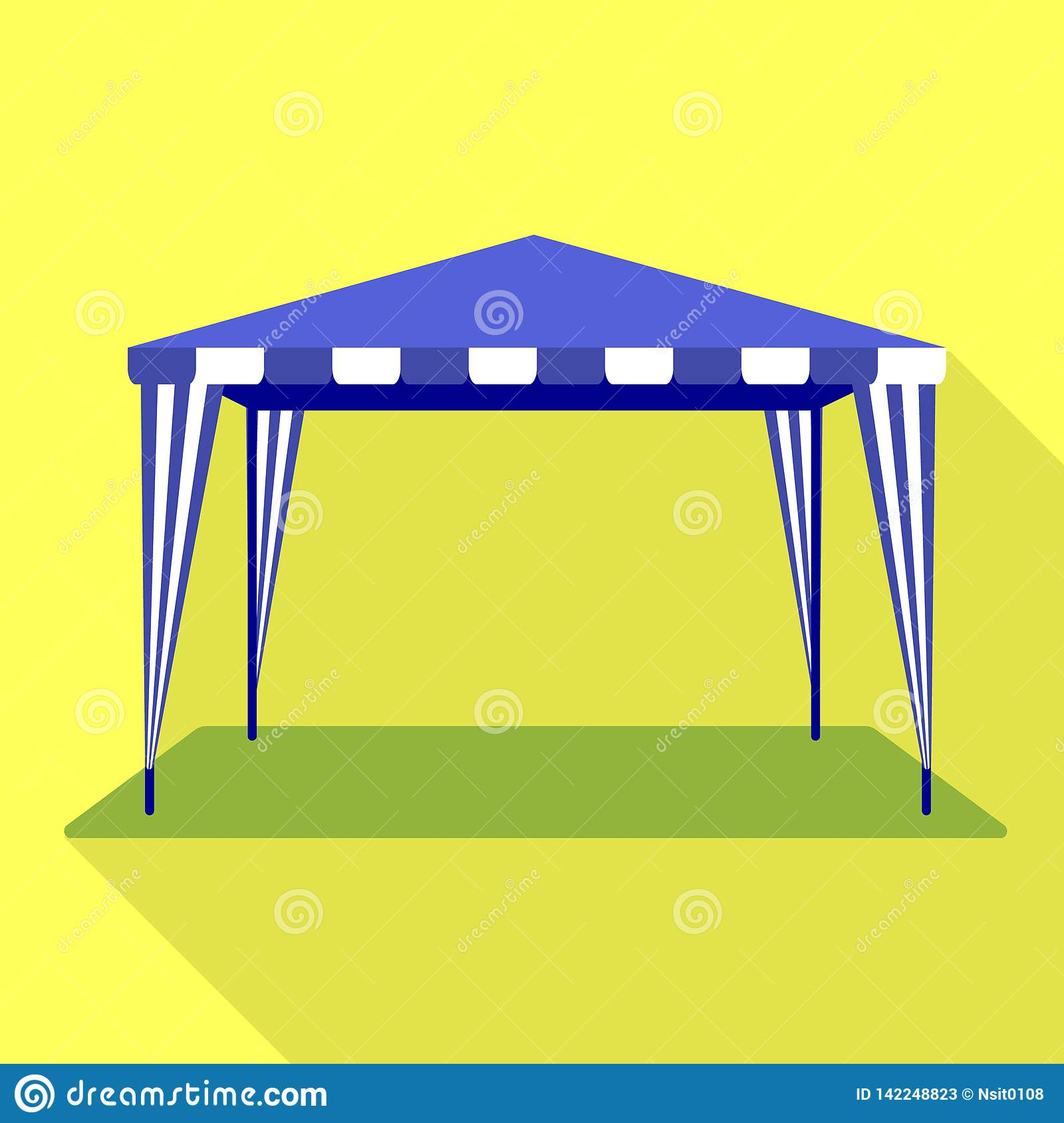 Holiday tent icon, flat style