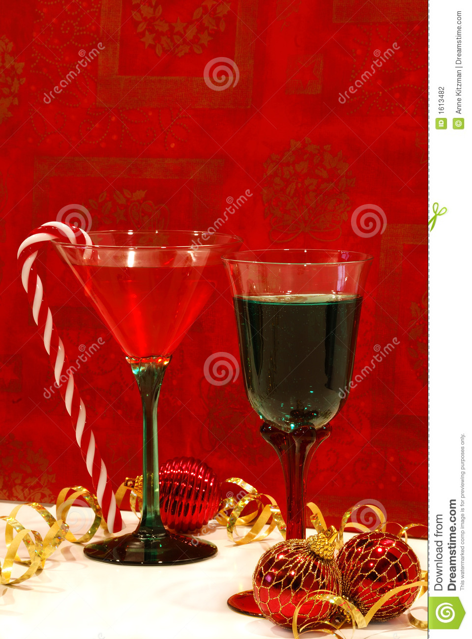 A Holiday Toast Stock Photo Image Of Wine Goblet White