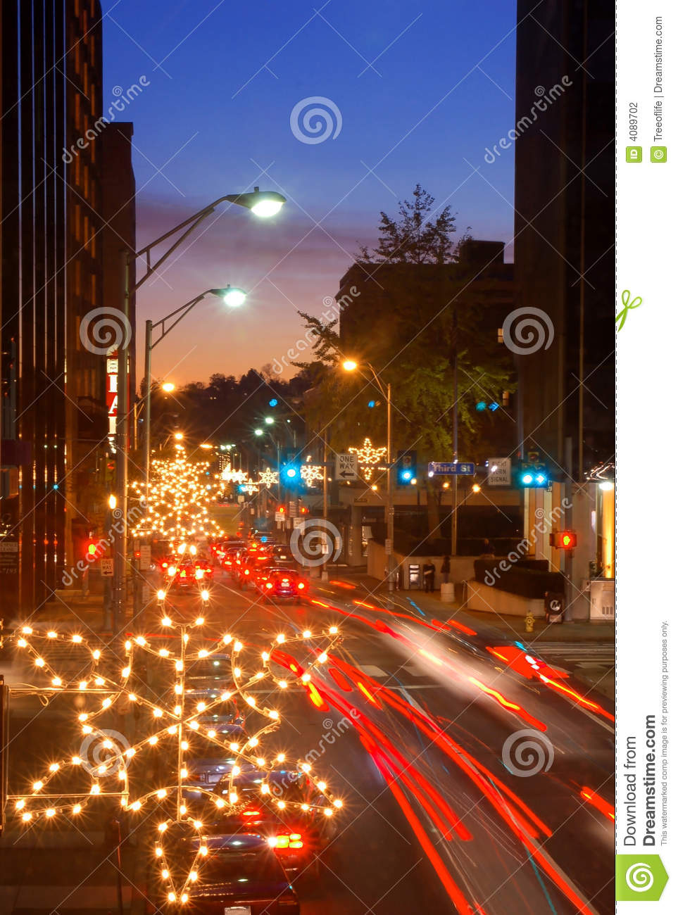 Holiday traffic in the city
