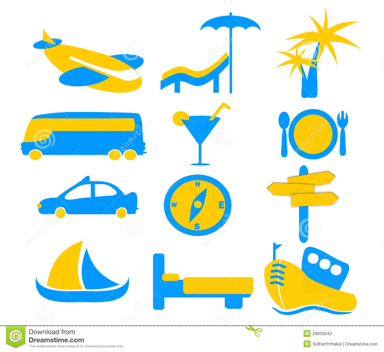 Holiday Travel Icon Graphics