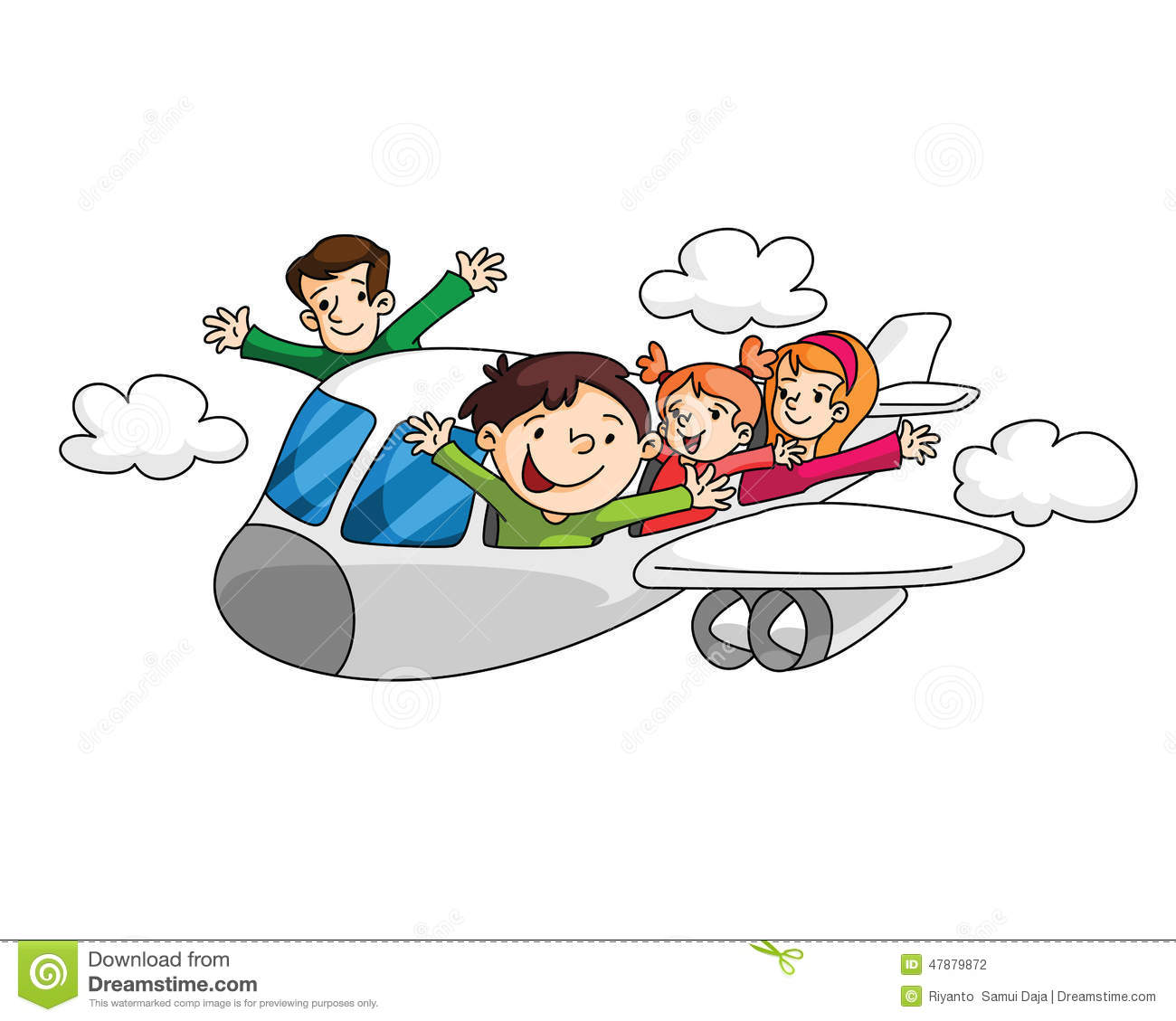 vacation airplane clip art - photo #25