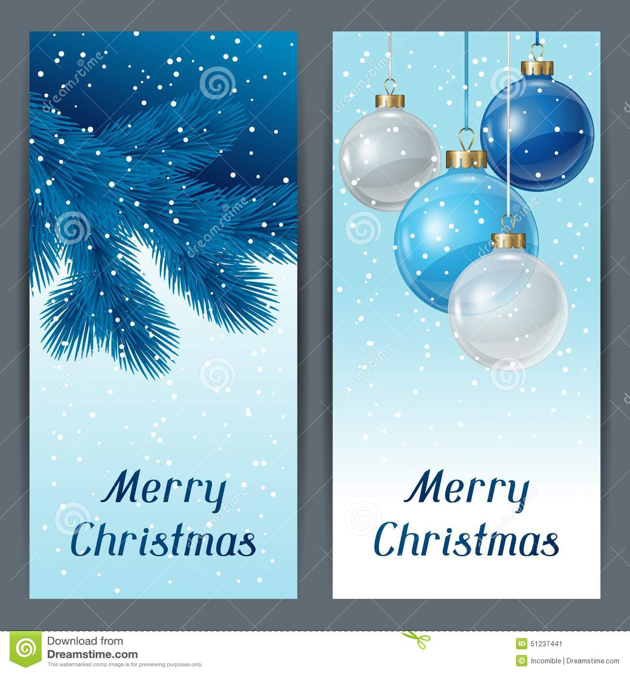 Holiday vertical banners template with christmas stock