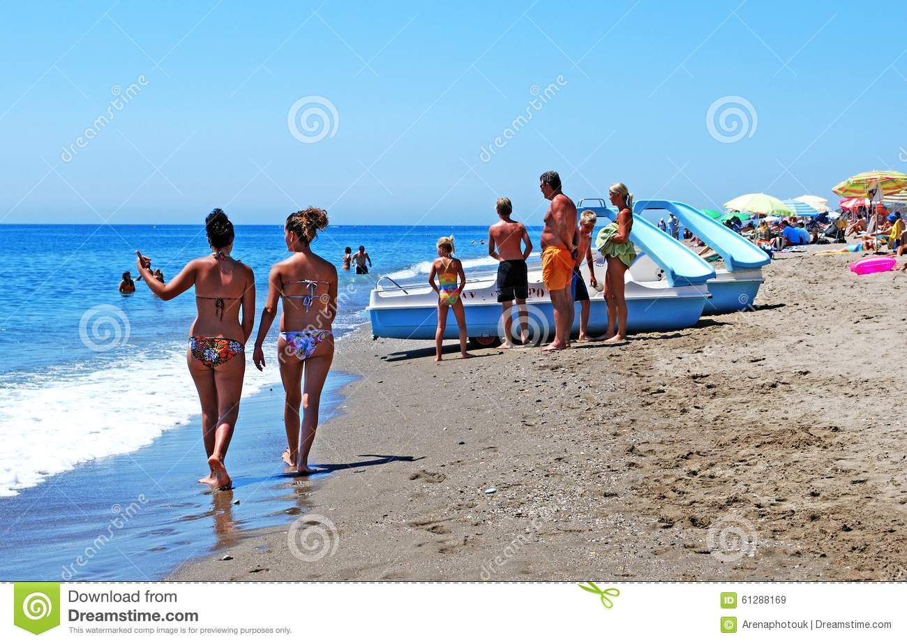 Holidaymakers On Fuengirola Beach