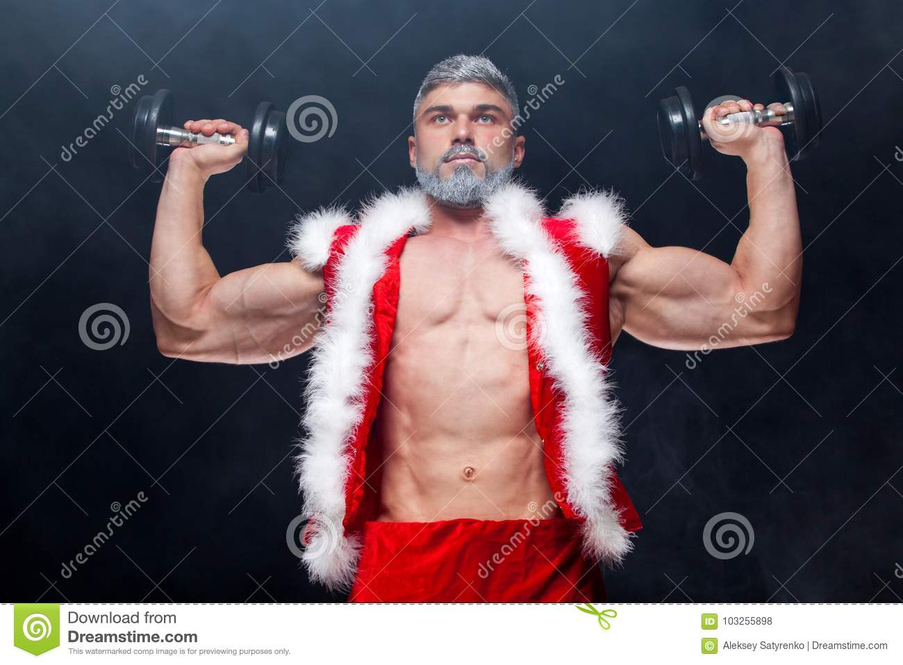 Santa sent me a muscle daddy