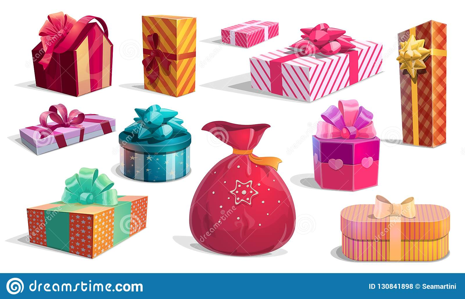 Holidays Gift Boxes And Presents Stock Vector Illustration Of