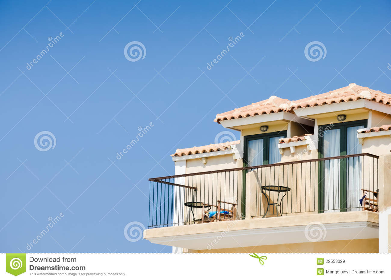 Holidays hotel balcony royalty free stock images image for Hotel balcony