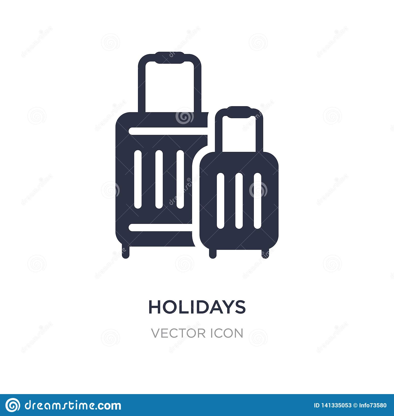 holidays icon on white background. Simple element illustration from Technology concept