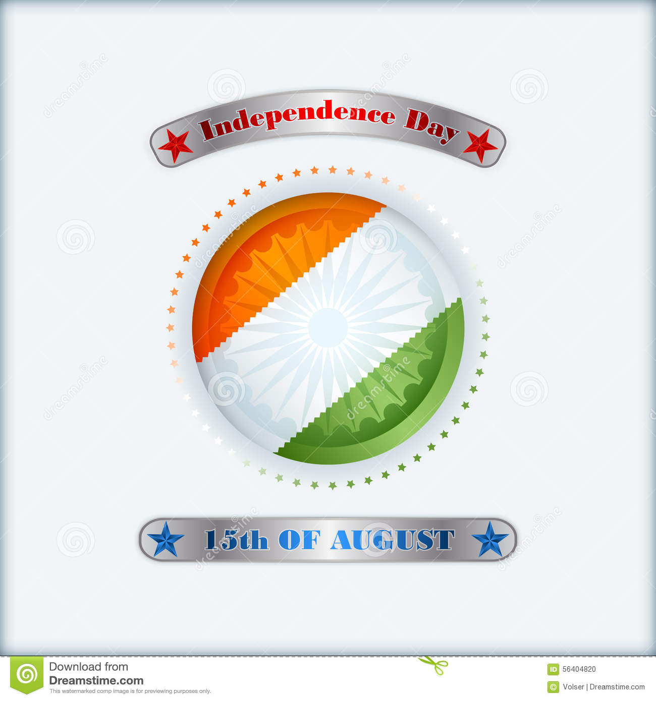 Indian Independence Day Vector Background Cartoon Vector