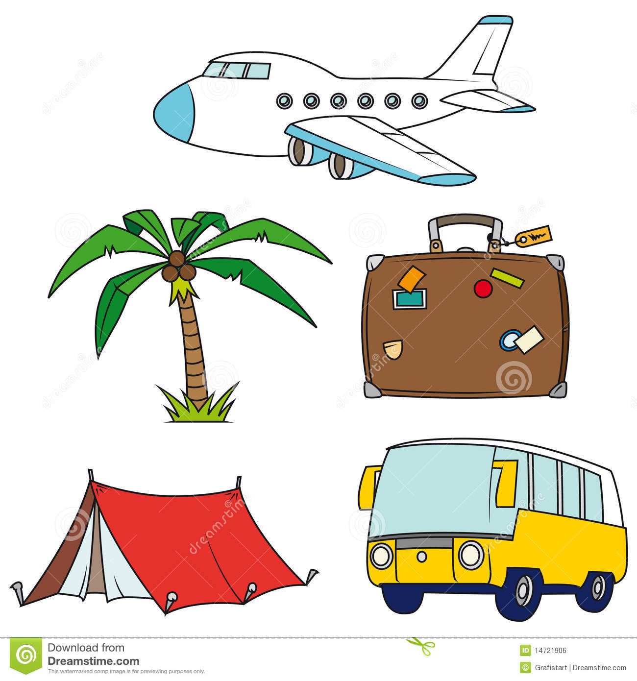 Holidays And Travel Clip-art Set Royalty Free Stock Image - Image ...