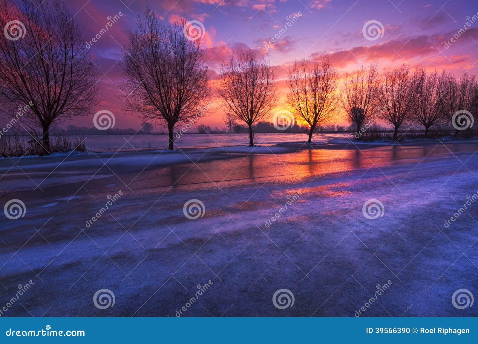 Holländskt vinterlandskap
