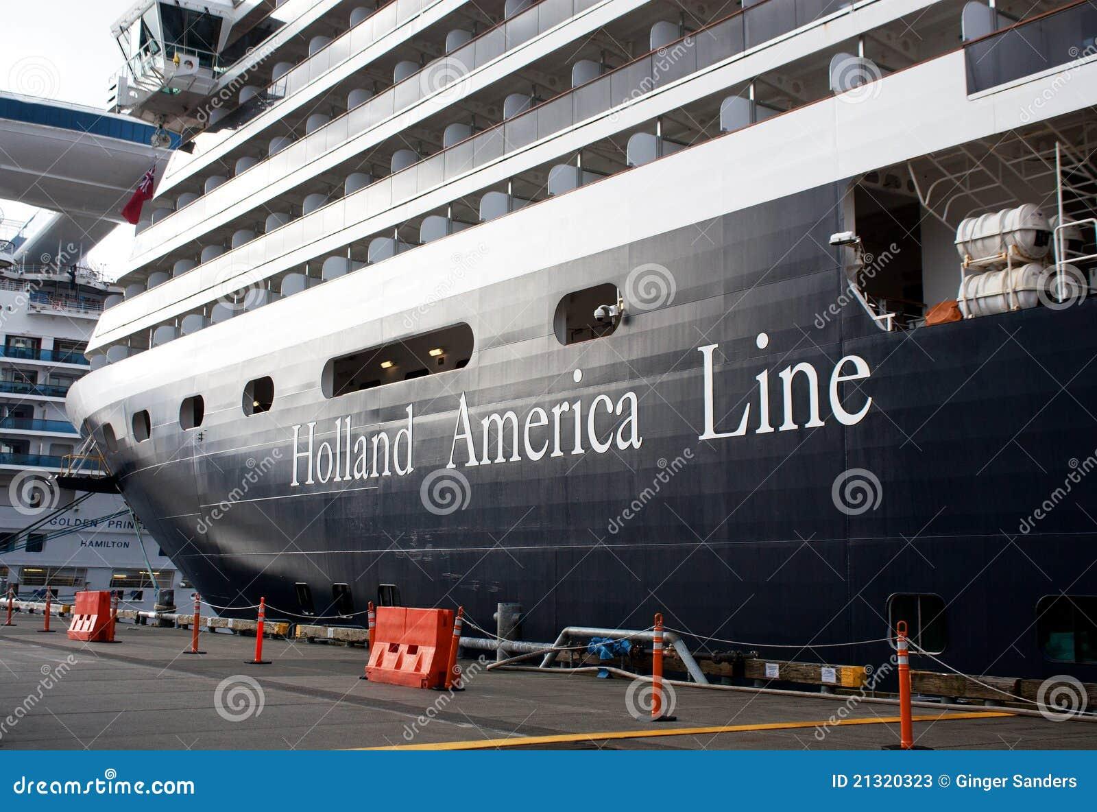 Holland America Ship in Port