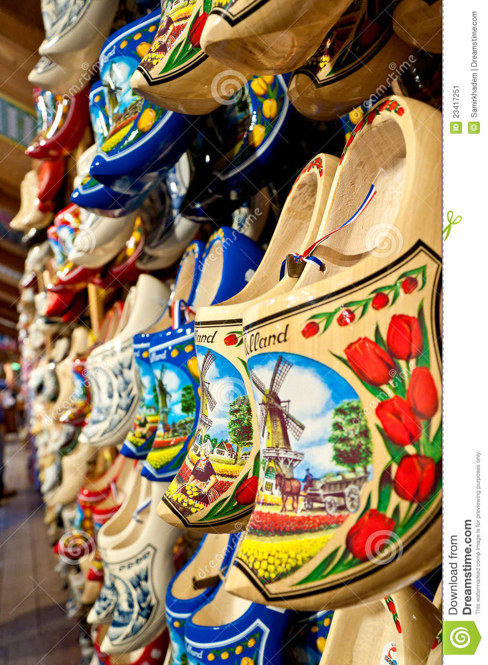 holland clogs vertical stock image image 23417251