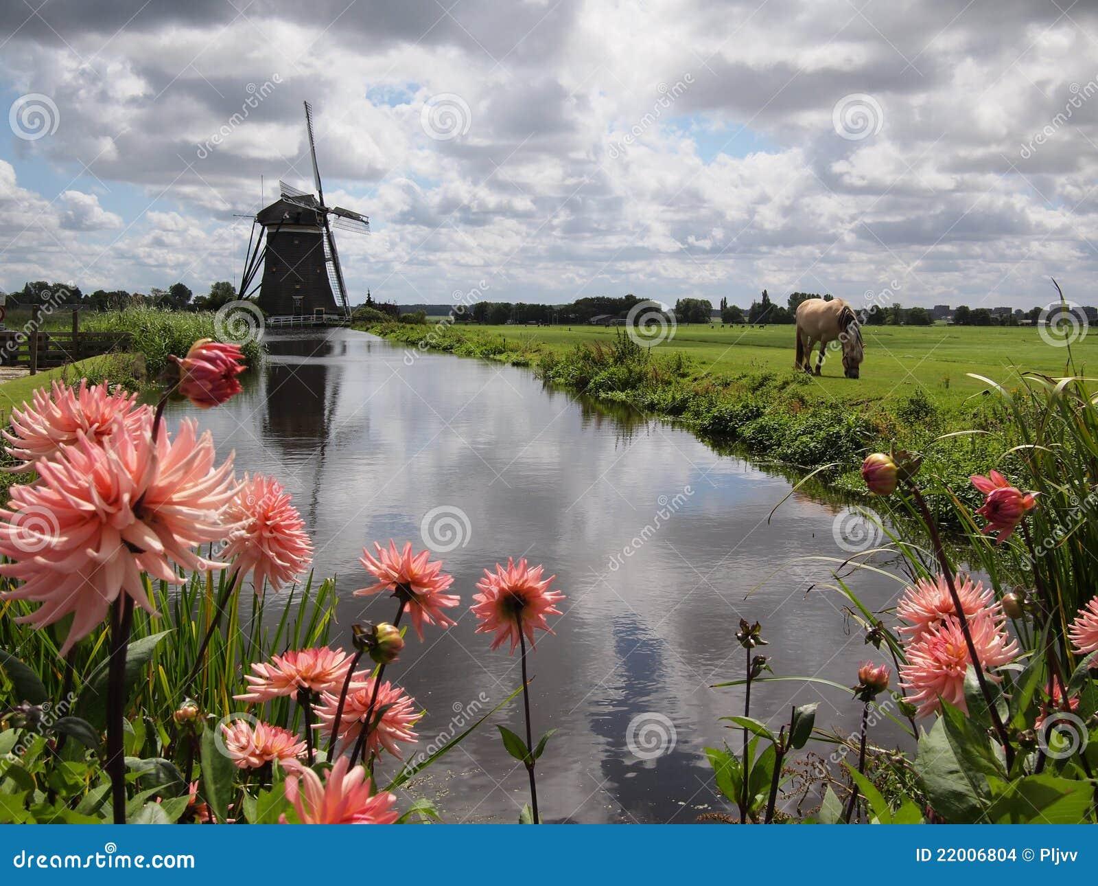 Holland liggandewindmill