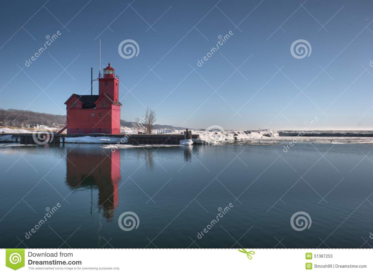 Comstock Park (MI) United States  city images : ... Lighthouse im Winter bei Holland State Park in Ottawa County MI