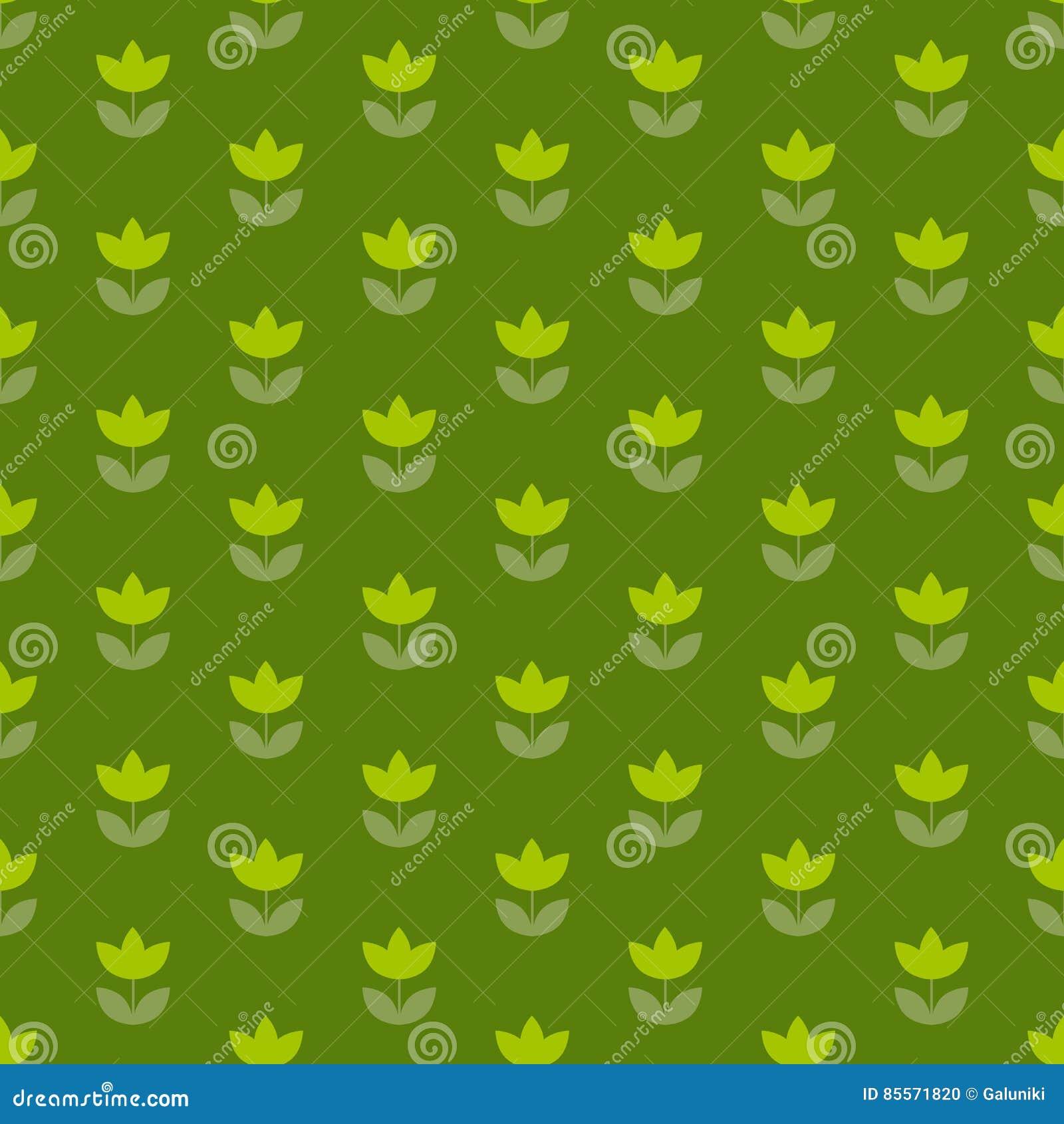 Holland-Tulpe grüne Farbe des Grases wiederholbares Motiv
