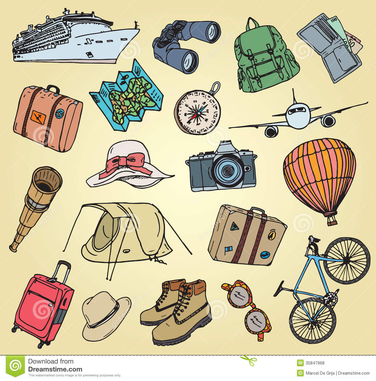 Holliday Doodle Items Royalty Free Stock Photos - Image: 35847968