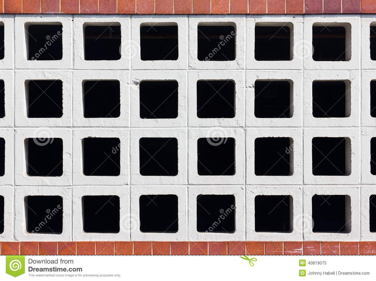 Hollow Brick Pattern Stock Image Image Of Brick