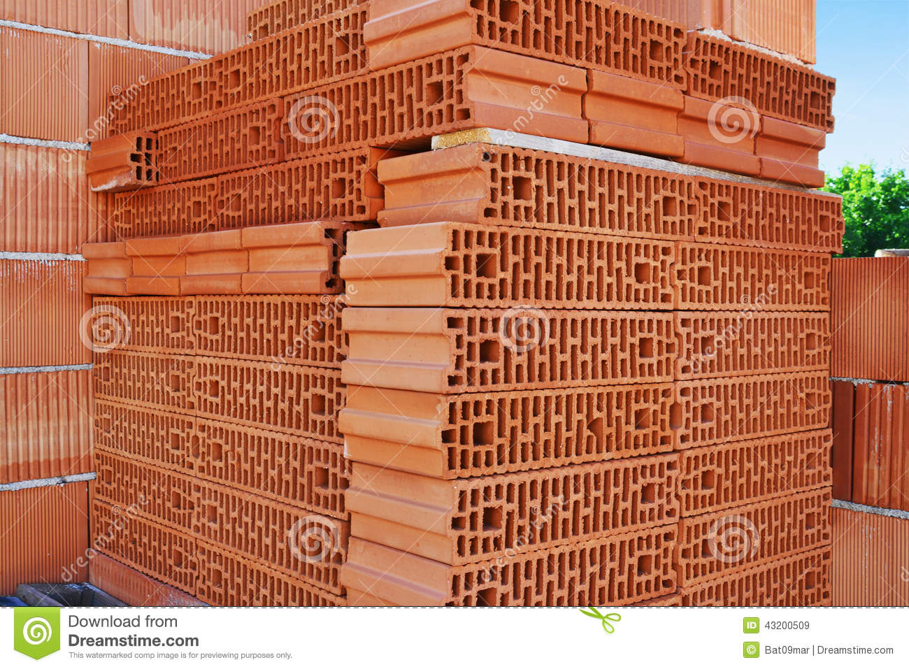 Hollow Clay Blocks Stock Image Image Of Clay Thermal