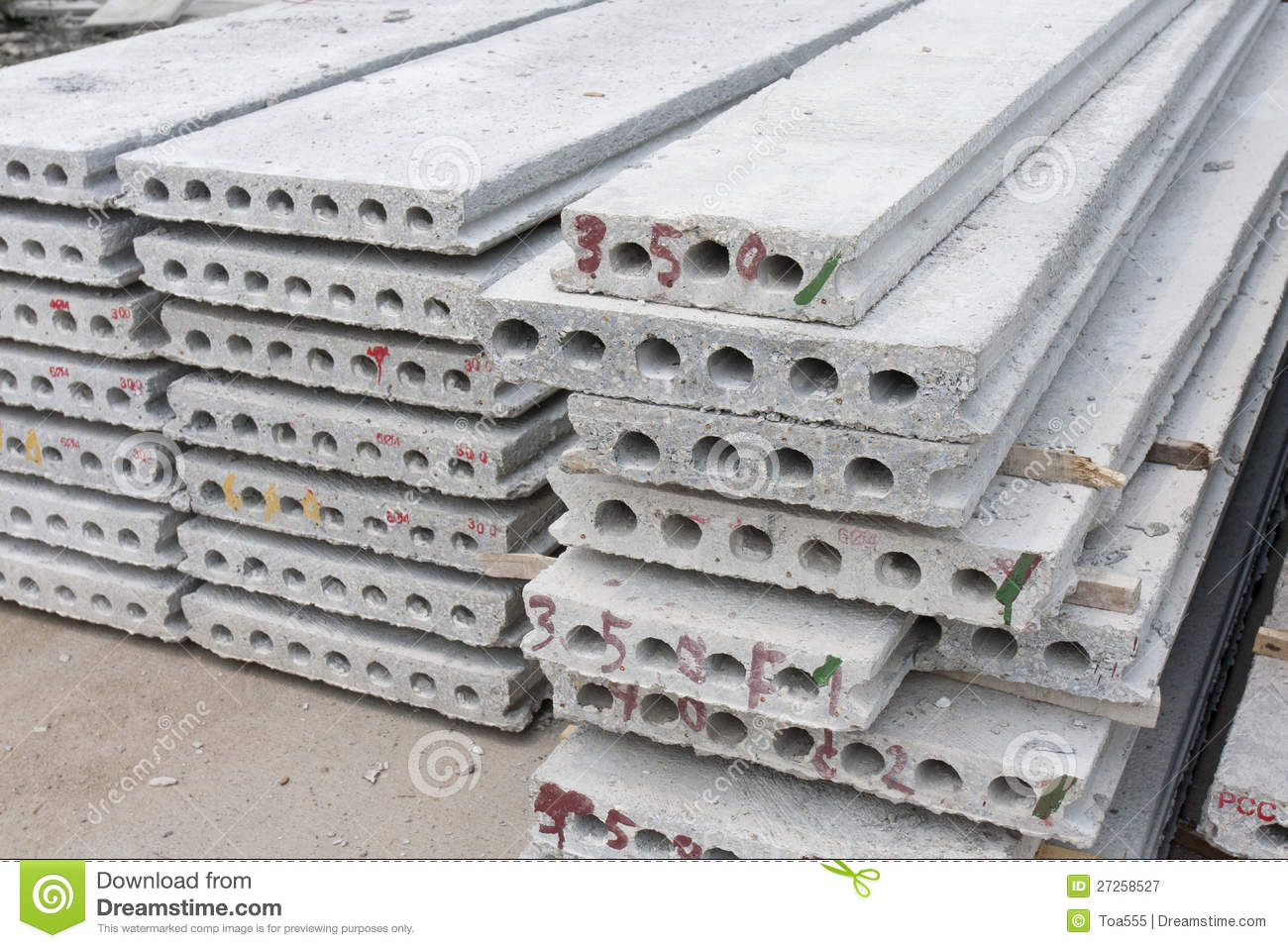 Precast Hollow Core Slab : Hollow core slab stock image of industry apartment