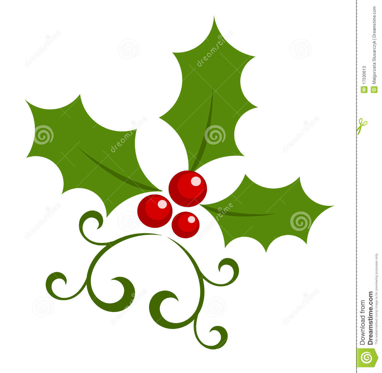 Holly berry icon stock photos image 17530613 for Holl image