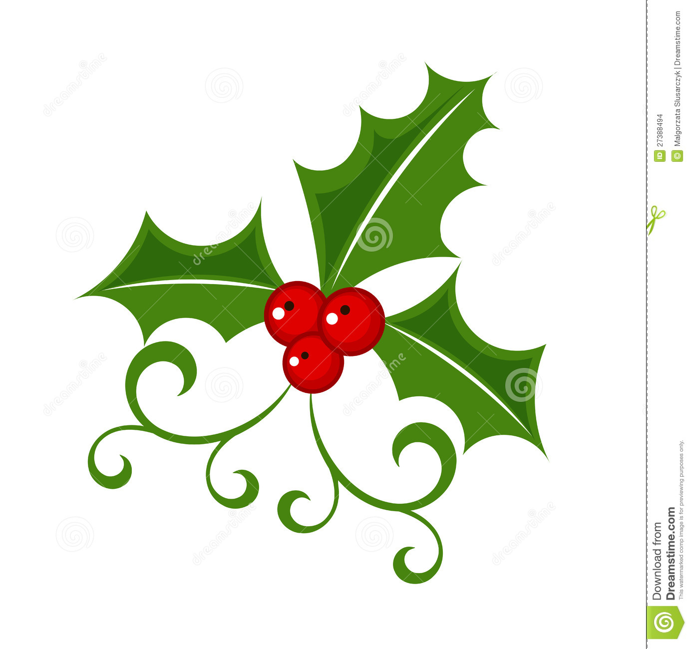 Holly Berry Illustration Stock Images - Image: 27388494