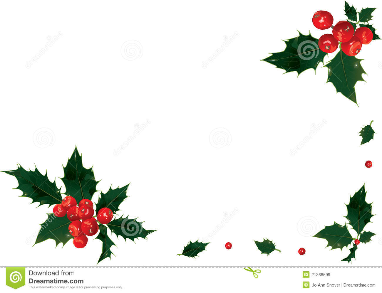 Holly Border Royalty Free Stock Images - Image: 21366599