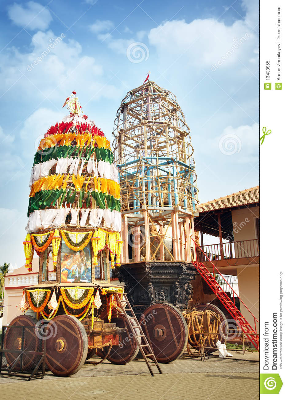 Holly Chariot In The Indian Temple Stock Image