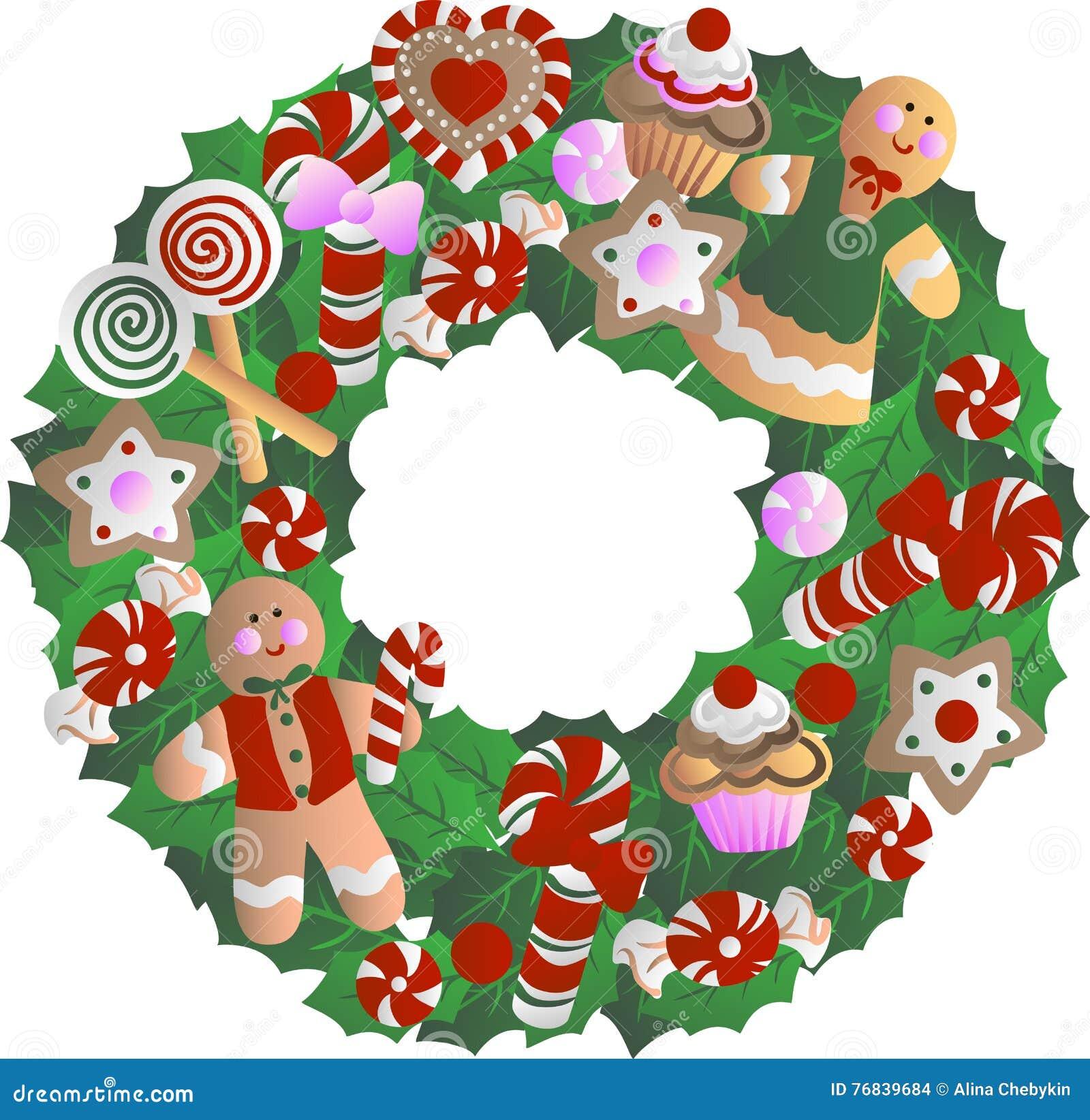 Holly Christmas Wreath Stock Vector Illustration Of Leaf 76839684