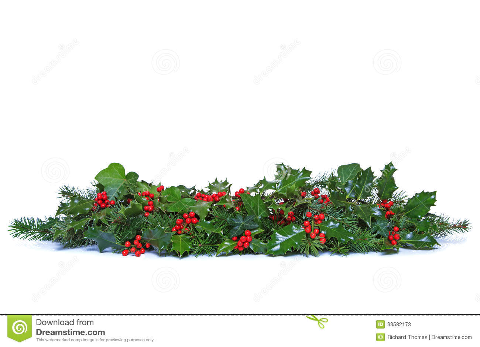 Holly Garland Clip Art Holly and ivy christmas