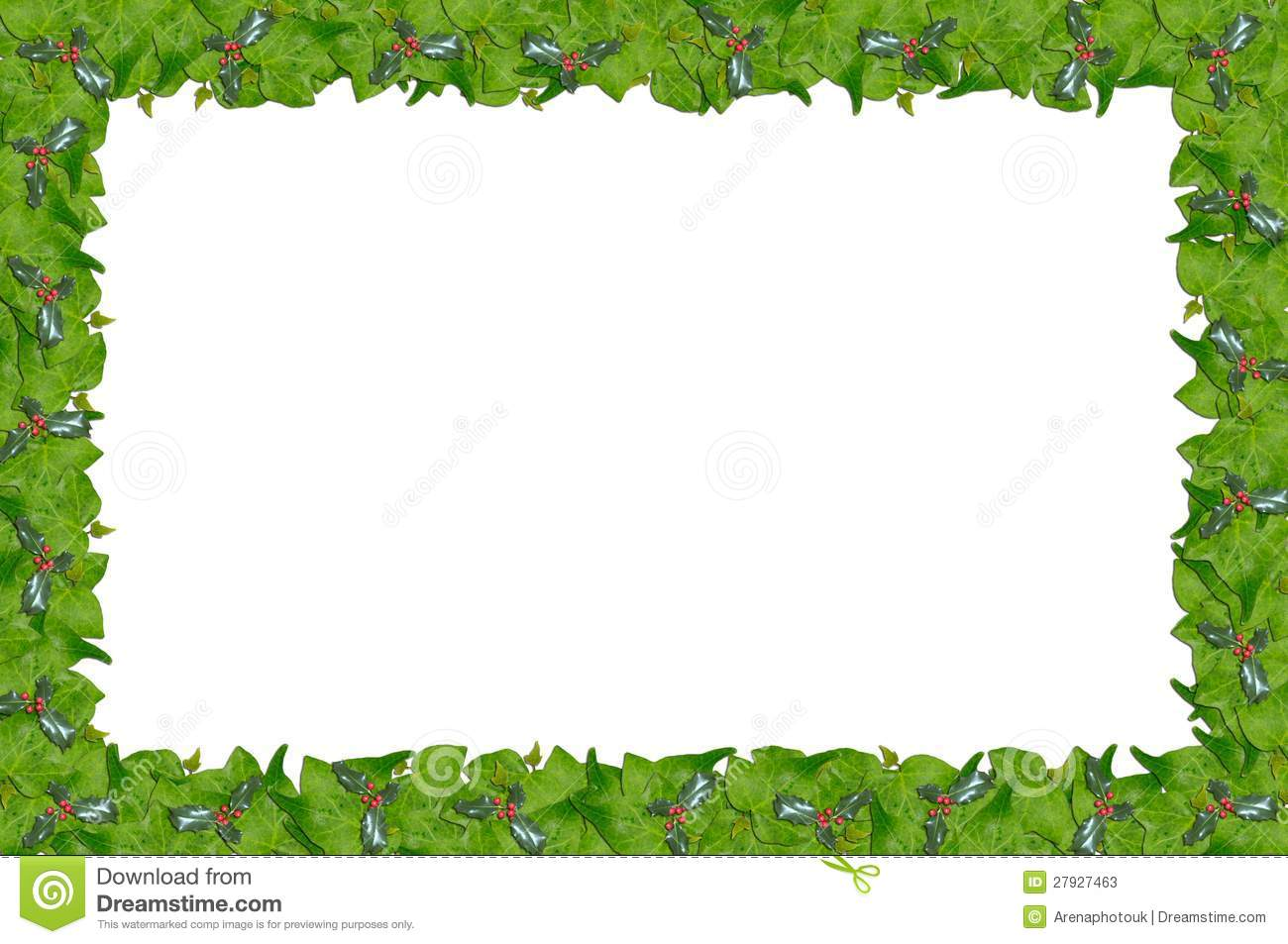 Holly and ivy page border stock photos image 27927463 for Holly and ivy border