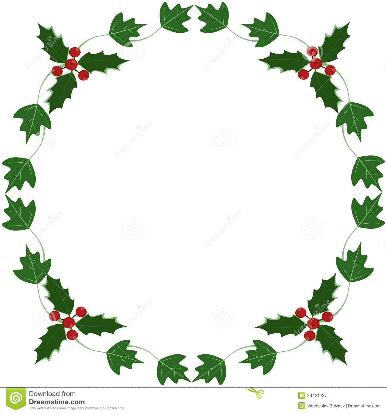 Holly And Ivy Yule Frame Royalty Free Stock Photography - Image ...