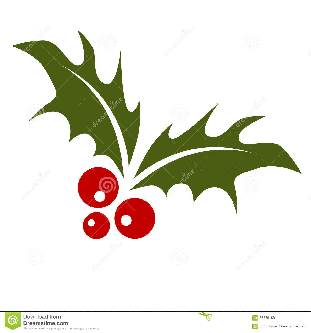 Holly leaf with berries stock vector image of clip leaf for Holl image