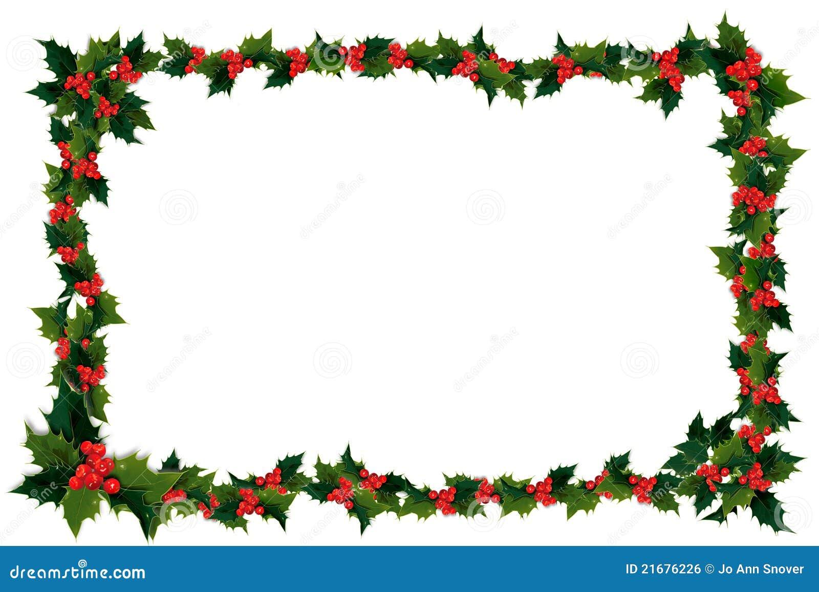 Green Christmas Ribbon Border