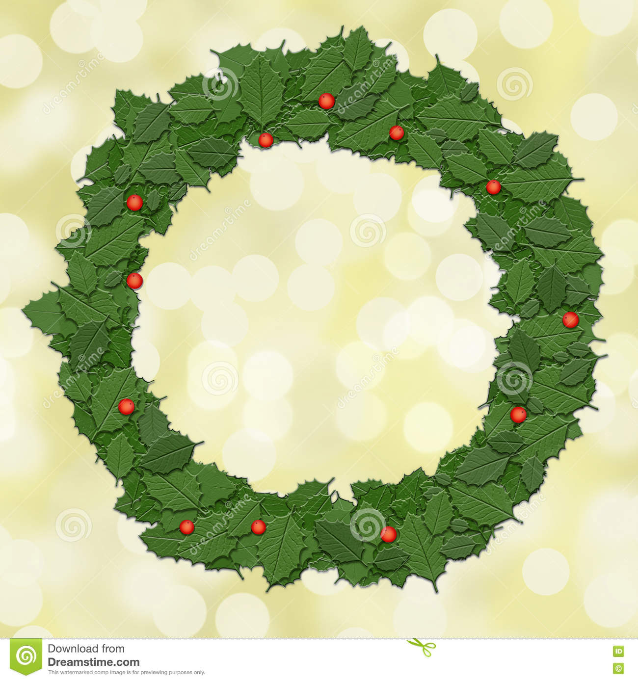 Why is holly a traditional christmas decoration - Holly Leaf Wreath Garland Christmas Decoration