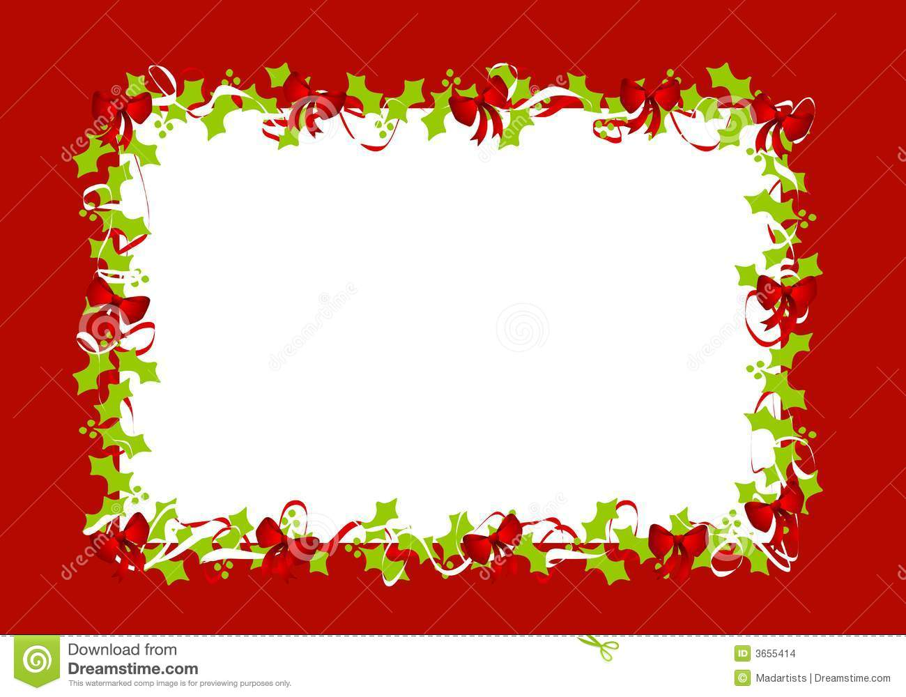Decorative frames set download free vector art stock graphics - Holly Leaves Red Ribbons Border Frame Stock Images Image