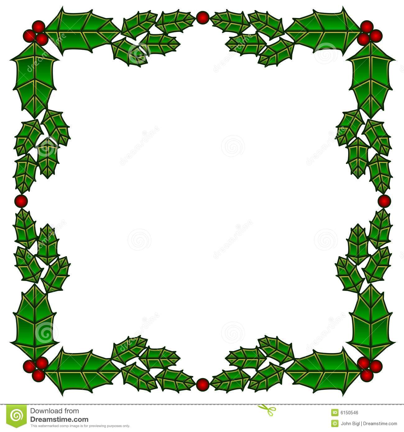 Holly stained glass border royalty free stock image image 6150546 for Holly and ivy border