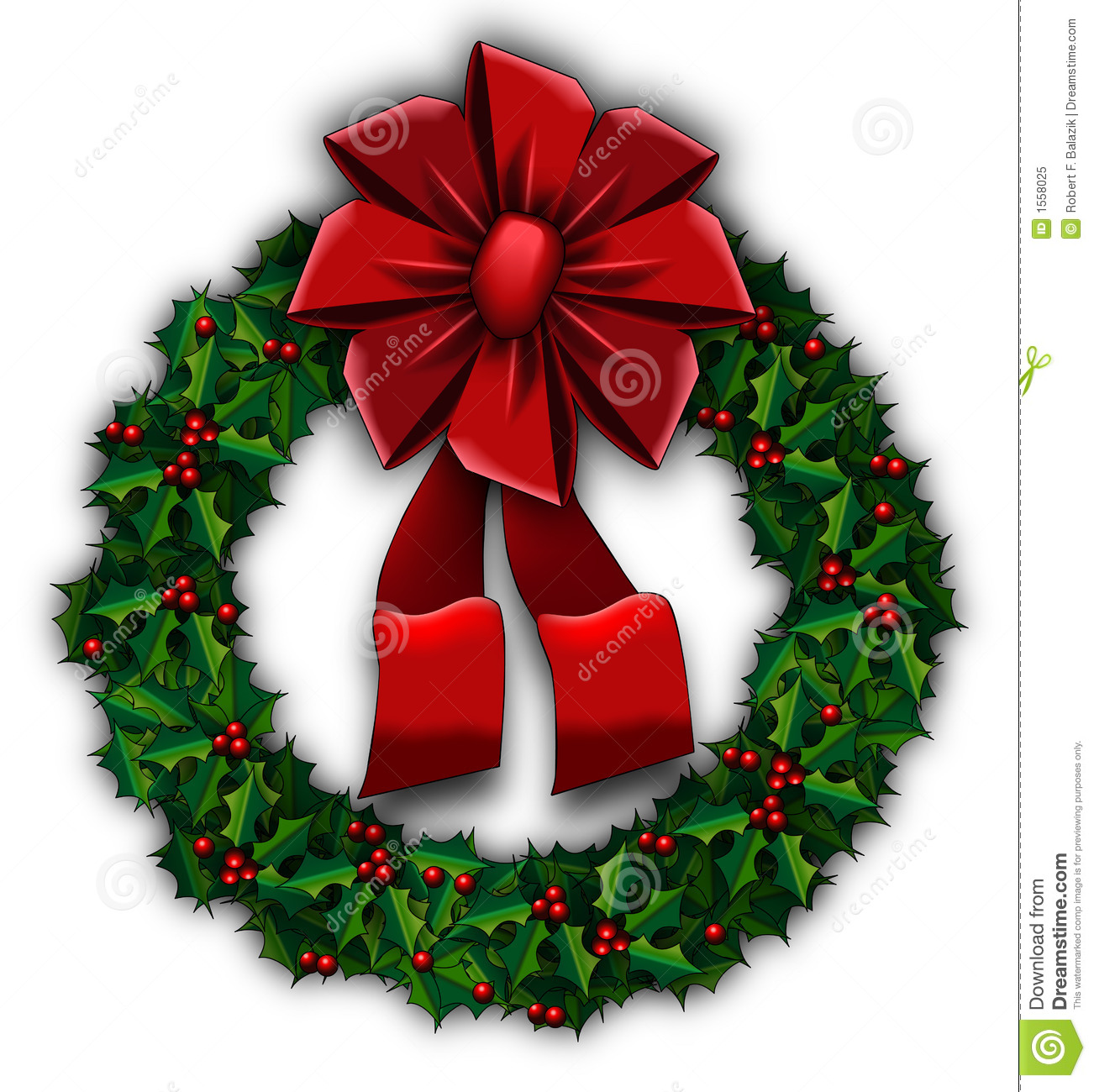 Holly wreath royalty free stock photo image