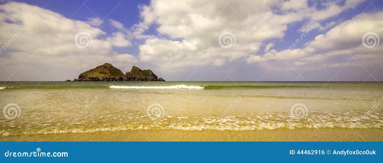 Hollywell Bay, Cornwall, England Stock Photo - Image: 44462916