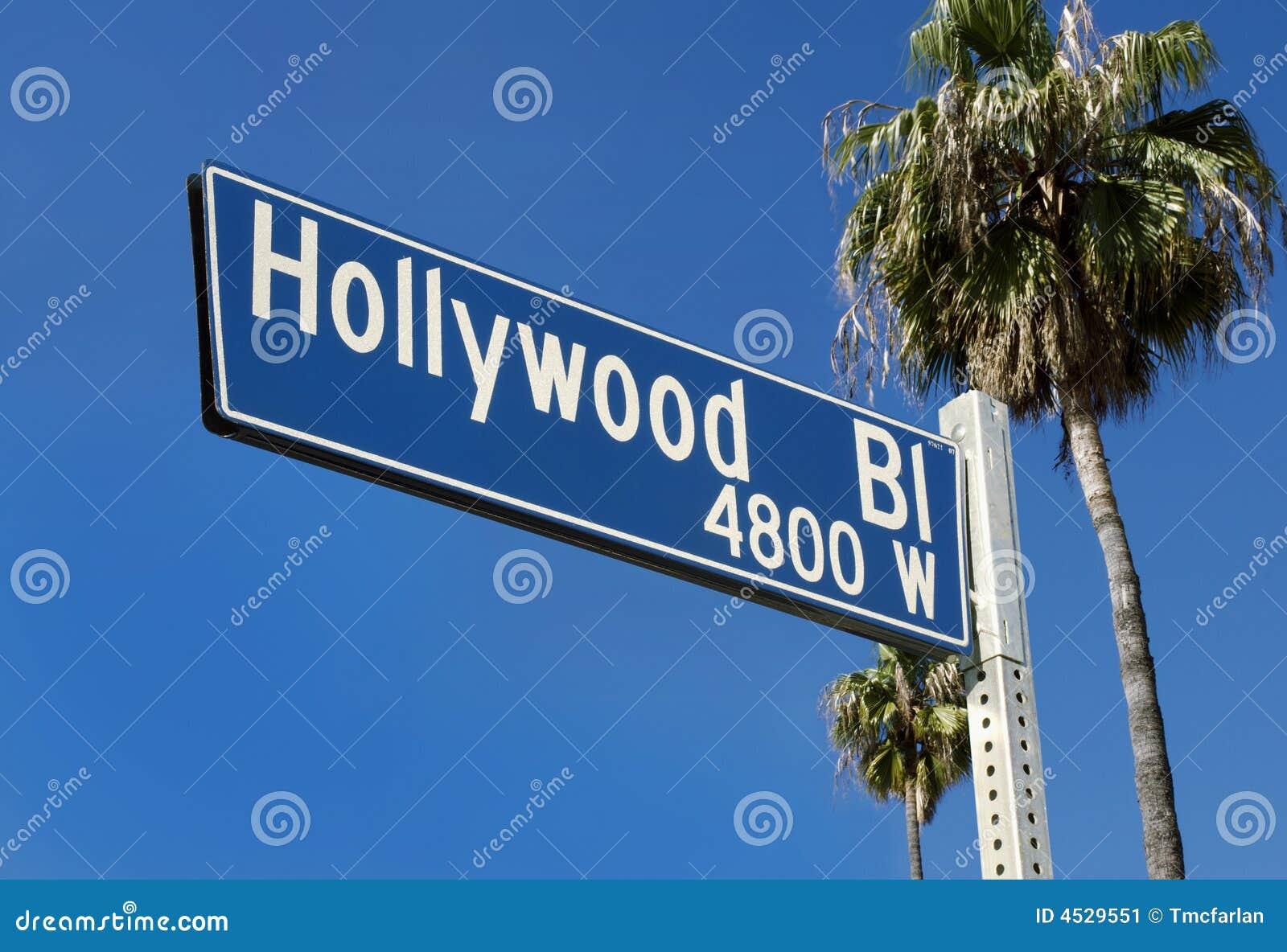 Hollywood Blvd Signs Clip Art