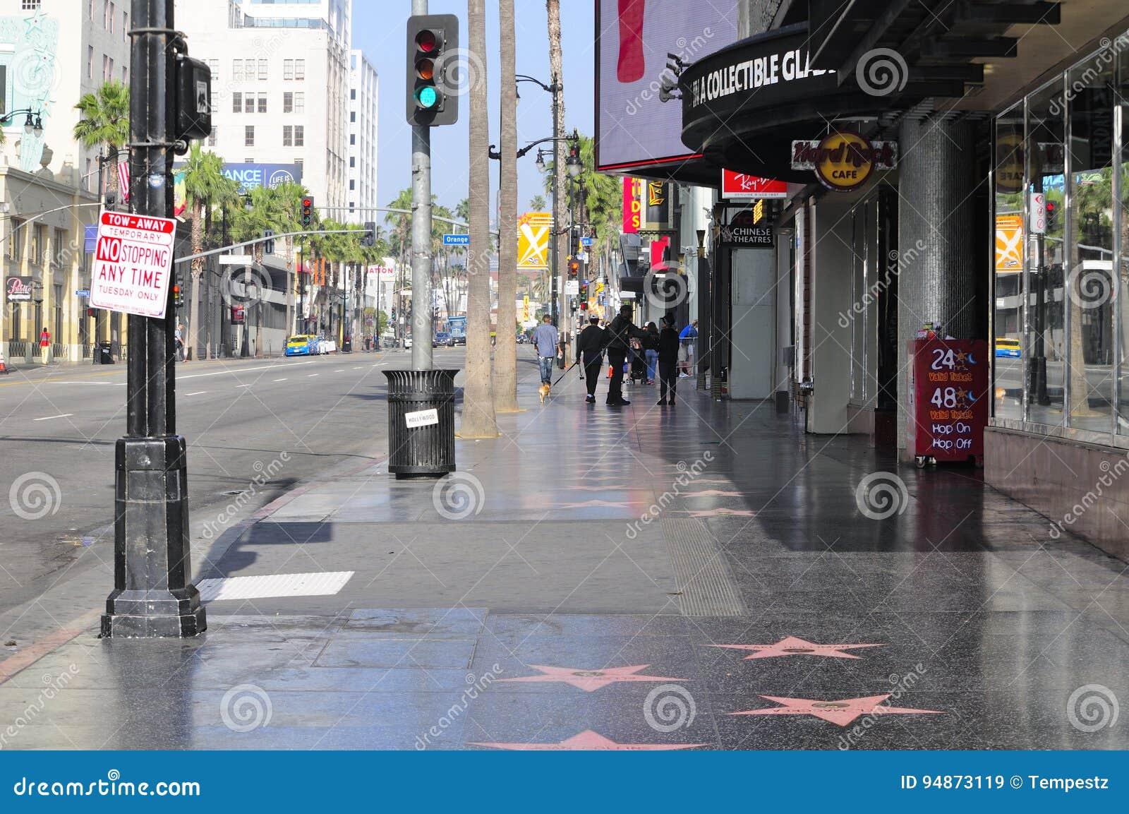 Hollywood Boulevard la Californie