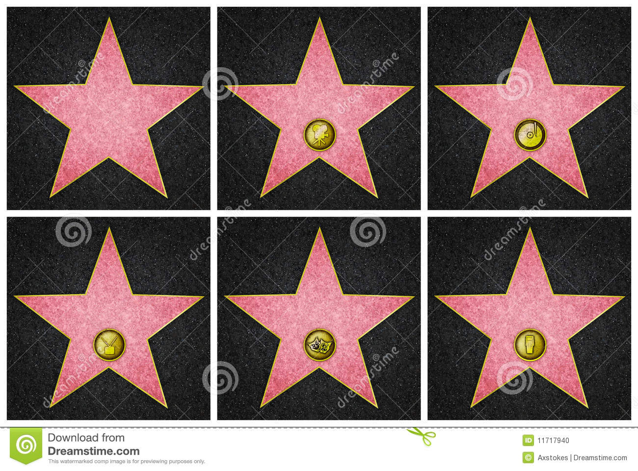 hollywood boulevard stars stock illustration image of