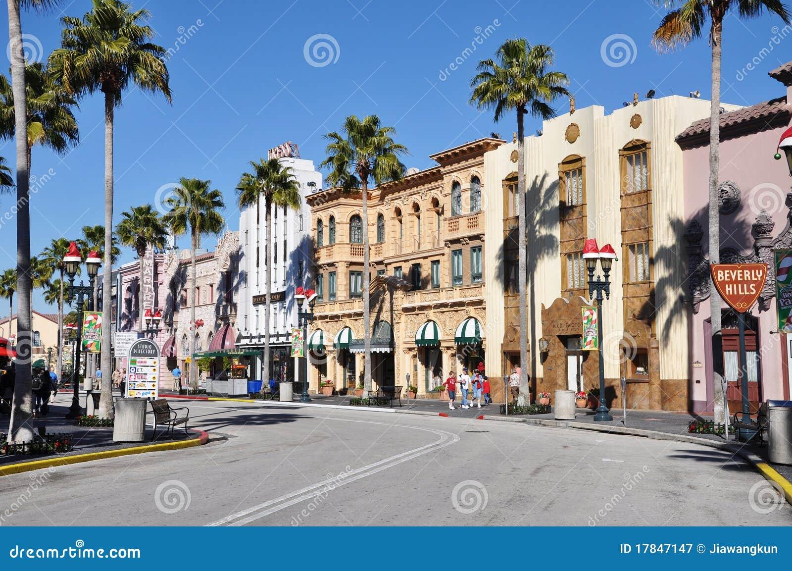Hollywood Boulevard In Universal Orlando Editorial