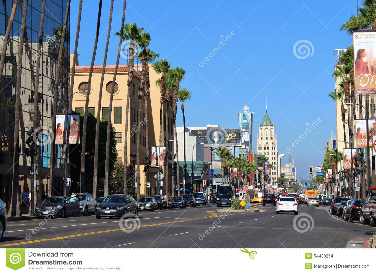 hollywood boulevard editorial stock image   image 54408254