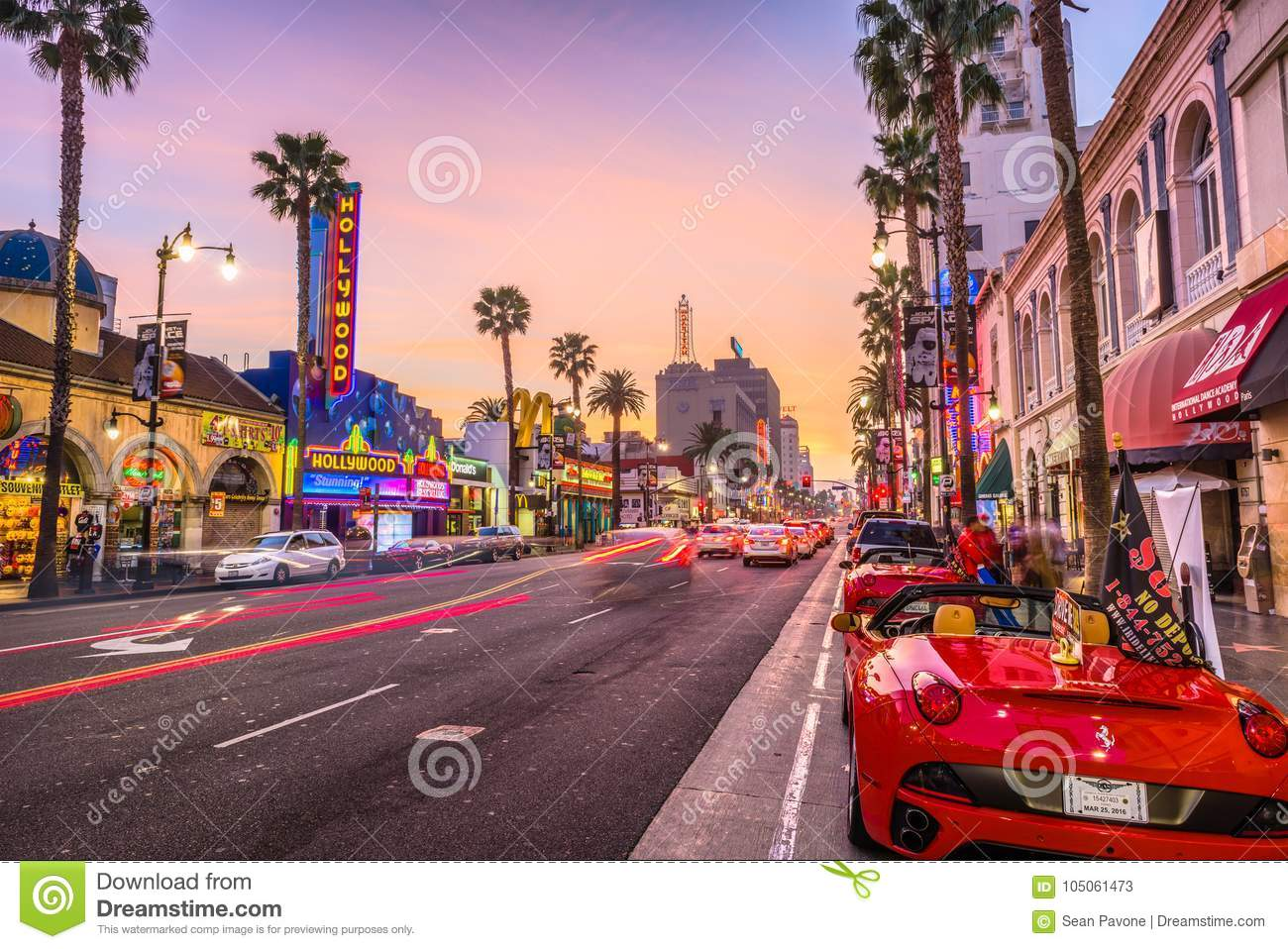 Hollywood bulwar Kalifornia