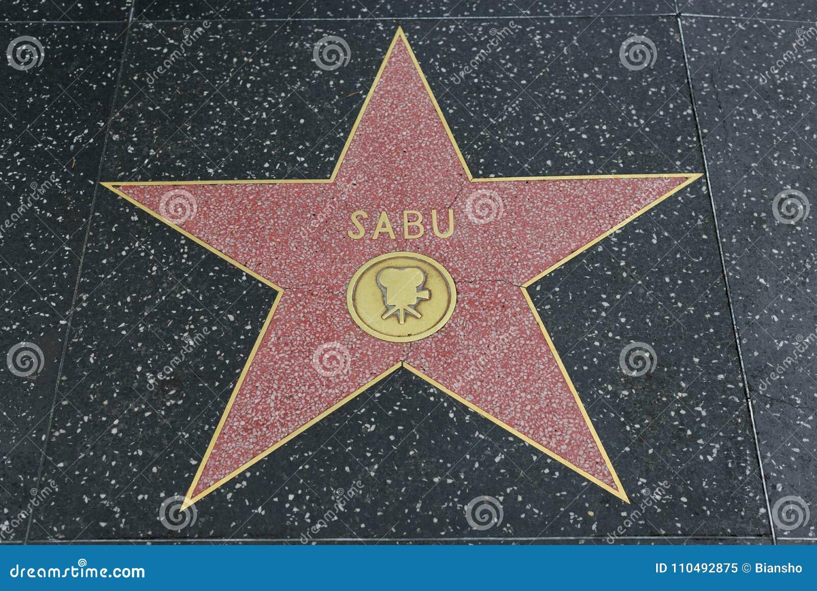 Sabu star on the Hollywood Walk of Fame