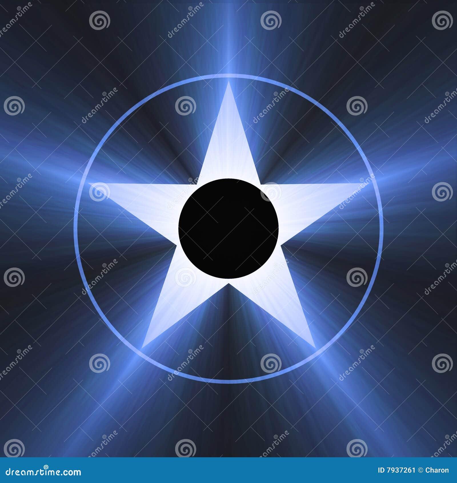 Hollywood för blå berömmelsesignalljus ljus stjärna