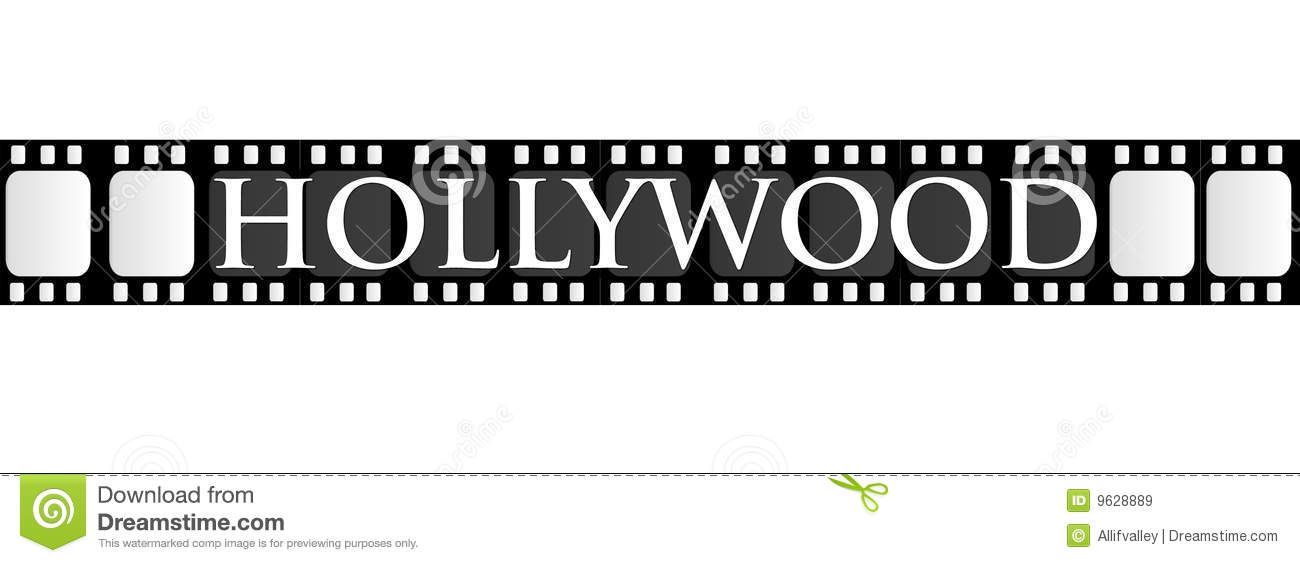 Hollywood Filmstrip Royalty Free Stock Images - Image: 9628889