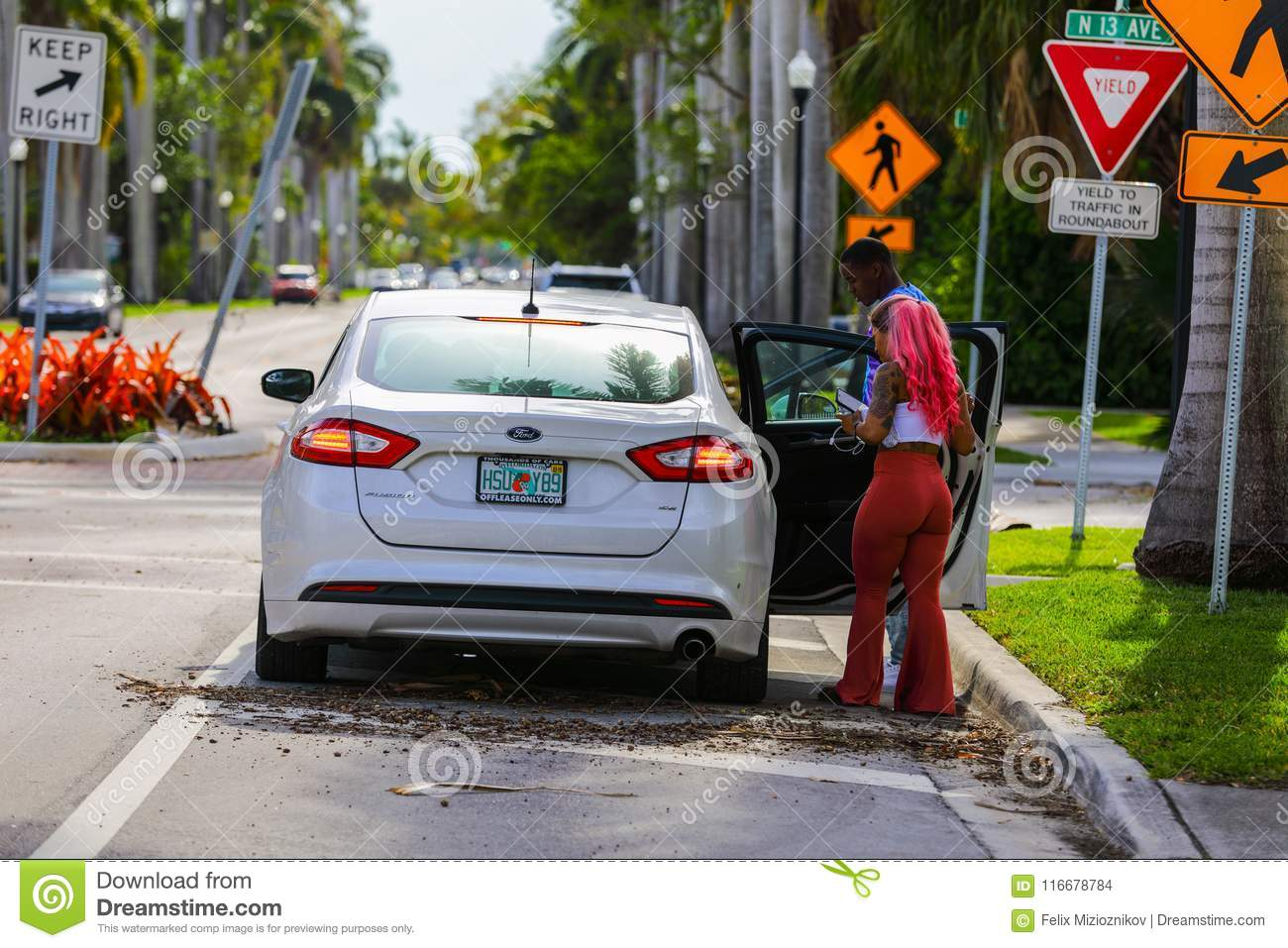 Lyft Pickup In South Florida Editorial Stock Image - Image