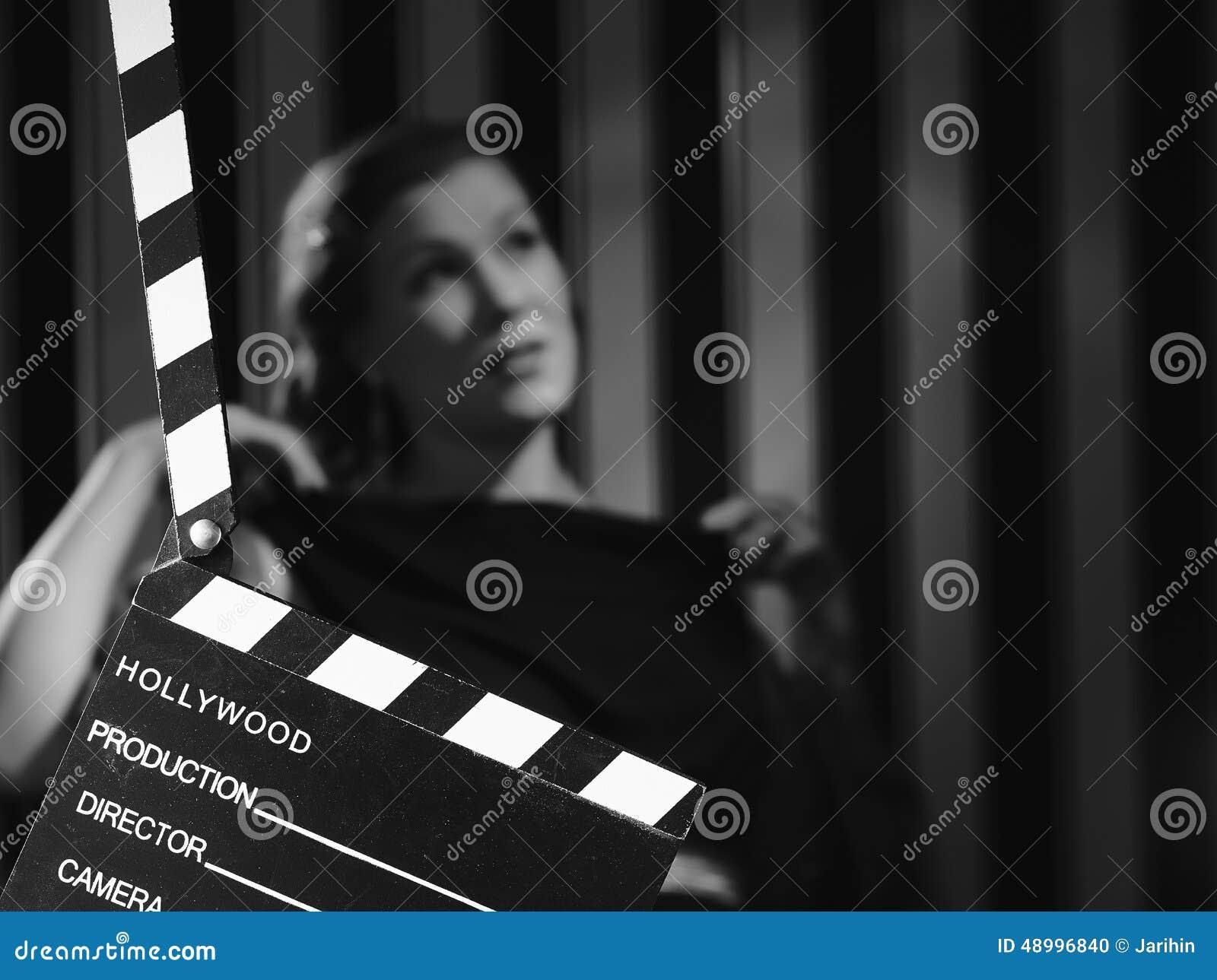 Hollywood kvinna och panelbräda