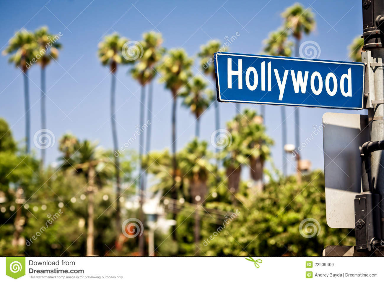 Hollywood losu angeles znak